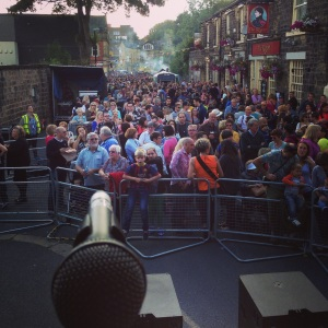 View from the stage at Chapel Allerton Festival